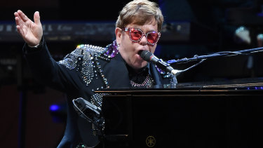 Glam shocker: Elton John.
