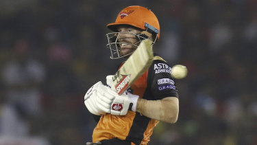 David Warner in action for the Sunrisers in the IPL.
