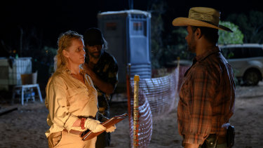Sofia Helin and Aaron Pedersen, Mystery Road season 2.