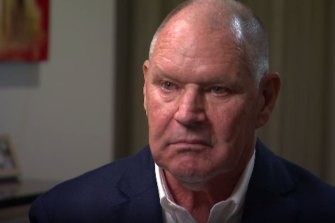 Former lord mayor Robert Doyle appearing on A Current Affair on Monday night.