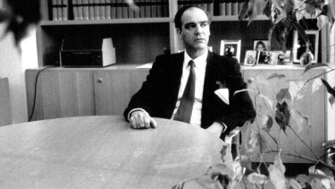Justice Stein in his offices at the Land and Environment Court in September 1991.