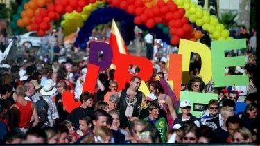 The Gay Pride March through St Kilda