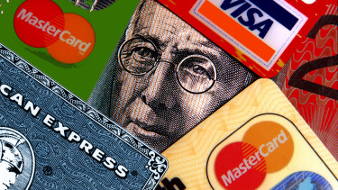Australians have cut back on the use of credit cards  during the past year