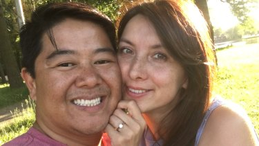 Sydney man Gordon Chan and his fianceeSvetlana Chernykh, who has a visa to come to Australia to marry Mr Chan but has been repeatedly denied travel exemptions.