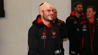 David Zaharakis was on crutches and wearing a moon boot after the match.