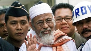 Firebrand cleric Abu Bakar Bashir, seen here in 2003, has been released from jail.