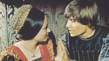 Some inappropriate social distancing from Zeffirelli's Romeo and Juliet.