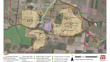Proposed impacts on Aboriginal cultural heritage sites.