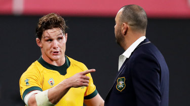 Michael Hooper (left) and Michael Cheika will be under the microscope throughout this year's World Cup.