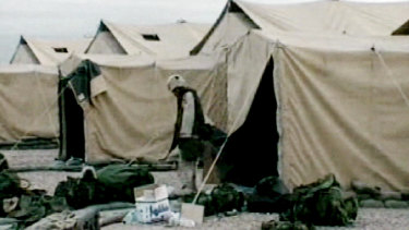 US Army tents in 2003.