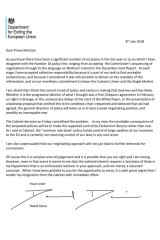 The resignation letter of Brexit minister David Davis.