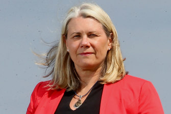 Kate Roffey poses for a photo in her role with Wyndham Council.