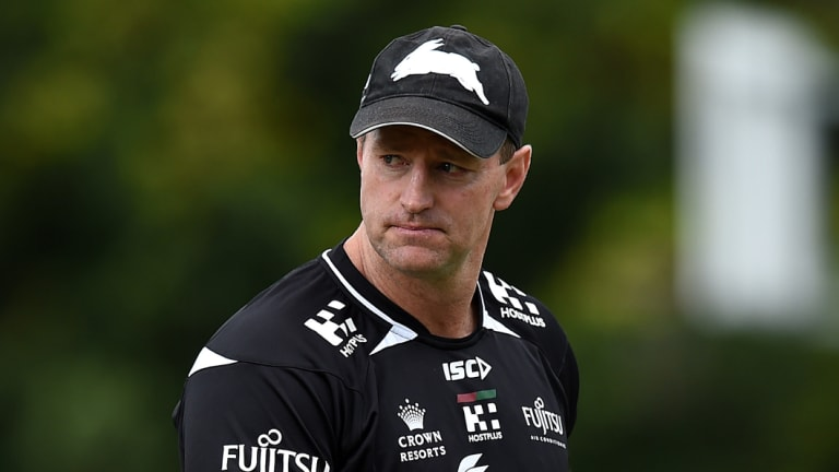 He's back: Former Rabbitohs coach Michael Maguire has officially joined Wests Tigers.