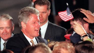 US President Bill Clinton in Australia, 1996