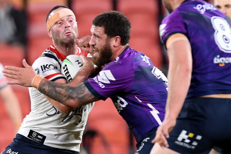 Roosters co-captain Boyd Cordner didn't finish the match because of a head knock.