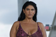 A more realistic picture of beauty ... a model in the Acacia swimwear show at Miami Swim Week.