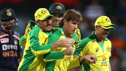 Zampa's late show makes amends for Kohli wobble as Australia cruise to victory