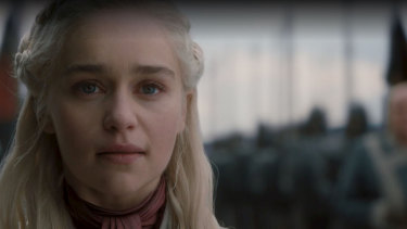 """""""I wanted to save that ability that Emilia has, to use her face to morph into different shapes and phases."""" David Nutter on GoT's Emilia Clarke."""