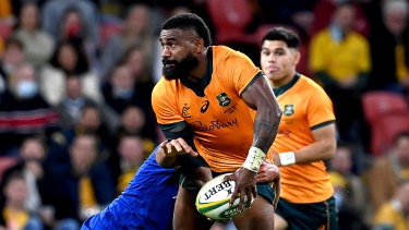 Marika Koroibete impressed again for the Wallabies on Wednesday night against France.