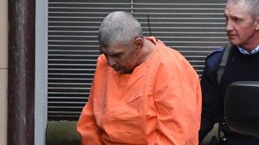 Mervyn Davidson arrives at court in Sydney on Wednesday.