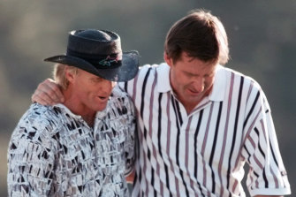 Norman squandered a big lead to Nick Faldo to lose in 1996.