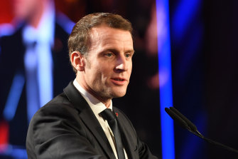 French President Emmanuel Macron is determined to see off protests.