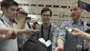 Alek Sigley arrived in Beijing on Thursday.
