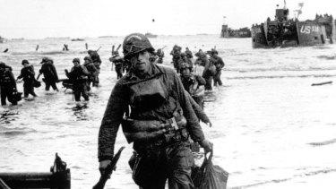 Omaha Beach on D-Day, June 6, 1944.