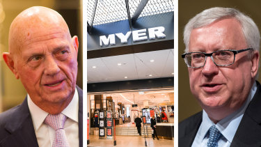 Lew tells Myer board to resign or face dismissal after chairman's shock departure.
