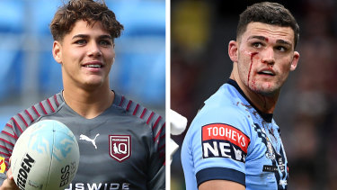 Reece Walsh and Nathan Cleary.