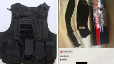 According to Singapore authorities, the 16-year-old  bought a flak jacket and had plans to buy a machete online.