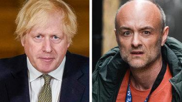 Boris Johnson and Dominic Cummings.