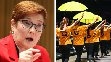 """Foreign Minister Marise Payne said on Thursday during a Senate estimates hearing that any """"political interference or censorship in arts and cultural events is unacceptable""""."""