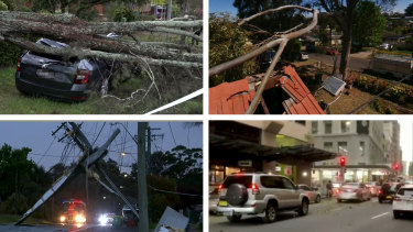 (SES) volunteers responded to 822 calls for assistance from noon on Friday after damaging winds tore roofs off homes, toppled trees and brought down powerlines, leaving tens of thousands of people in western Sydney without power.
