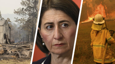 The Berejiklian government is split over bushfire policy as the state continues to burn.