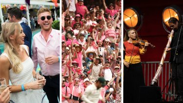 Composite image of drinking, cricket and the Sydney festival.