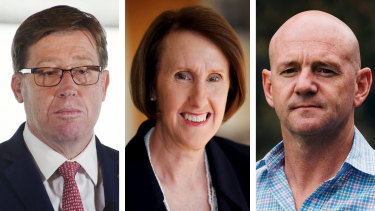 Troy Grant, Leslie Williams and Niall Blair composite.