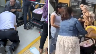 A trio of passengers were on hand to save the day after a small child fell between the platform and the train at Wolli Creek station this morning.