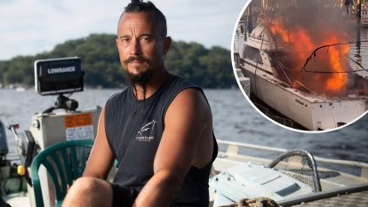 'It happened so bloody quickly': The hero who towed flaming boat from wharf