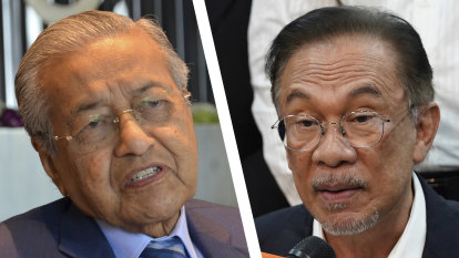 Mahathir, Anwar face off in contest for Malaysian prime ministership