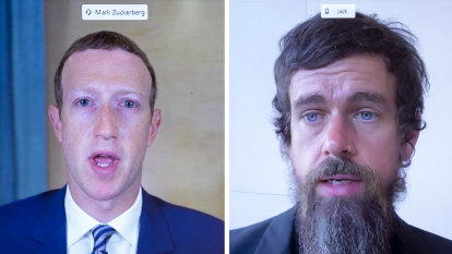Jack Dorsey, Mark Zuckerberg lashed over content rules at senate hearing