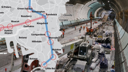 Transport blueprint reveals two new metro lines for Sydney's east