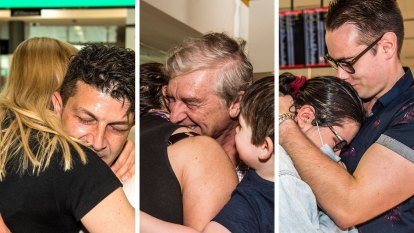 Love, actually, is all around as families reunite for the first time since borders reopen