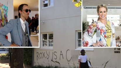 Street artist Anthony Lister charged with obscene Roxy Jacenko graffiti