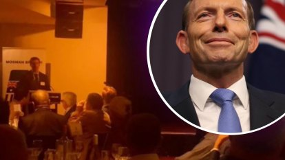 Standing room only as Abbott headlines Liberal fundraiser in Mosman