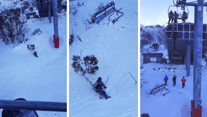 Skier plummets from Thredbo chairlift after it was dislodged in strong winds