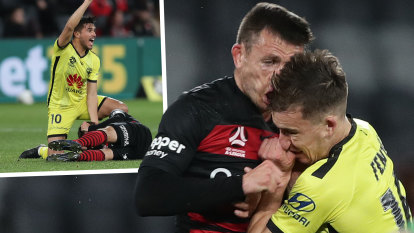 Wanderers star escapes serious head injury after 'scary' collision