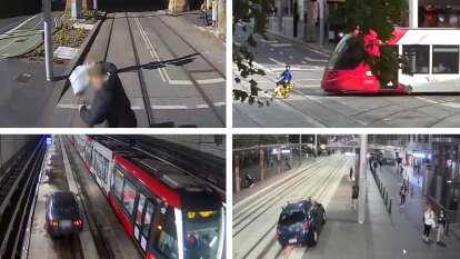 'Tram tracks are for trams': Caution urged around CBD light rail after near-misses