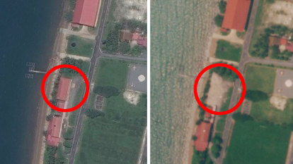 US building obliterated, as China expands Cambodian naval base
