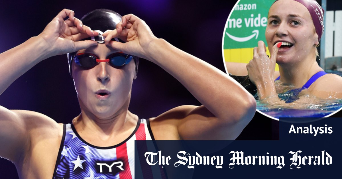 Ledecky clocks slower time than Titmus but was the American star foxing? – Sydney Morning Herald